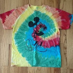 Disney tie dye shirt short-sleeved
